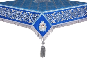 Embroidered Holy table cover no.6 (blue-silver)
