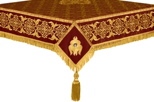 Embroidered Holy table cover no.6 (claret-gold)