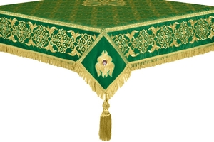 Embroidered Holy table cover no.6 (green-gold)