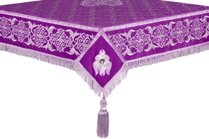 Embroidered Holy table cover no.6 (violet-silver)