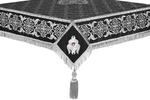 Embroidered Holy table cover no.6 (black-silver)