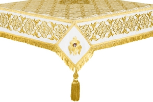 Embroidered Holy table cover no.6 (white-gold)