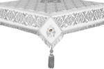 Embroidered Holy table cover no.6 (white-silver)