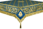 Embroidered Holy table cover no.8 (blue-gold)