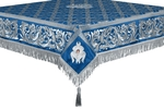 Embroidered Holy table cover no.8 (blue-silver)