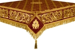 Embroidered Holy table cover no.8 (claret-gold)