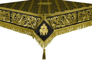 Embroidered Holy table cover no.8 (black-gold)