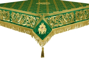 Embroidered Holy table cover no.8 (green-gold)