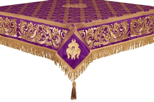 Embroidered Holy table cover no.8 (violet-gold)