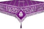 Embroidered Holy table cover no.8 (violet-silver)