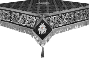 Embroidered Holy table cover no.8 (black-silver)