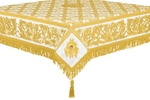 Embroidered Holy table cover no.8 (white-gold)