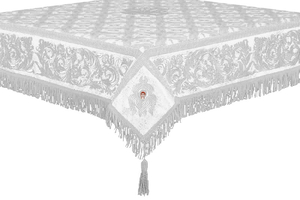 Embroidered Holy table cover no.8 (white-silver)