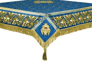 Embroidered Holy table cover no.10 (blue-gold)