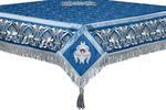 Embroidered Holy table cover no.10 (blue-silver)