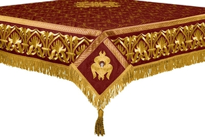 Embroidered Holy table cover no.10 (claret-gold)