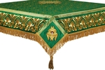 Embroidered Holy table cover no.10 (green-gold)