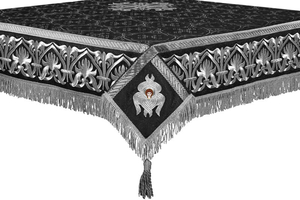 Embroidered Holy table cover no.10 (black-silver)