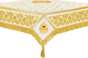 Embroidered Holy table cover no.10 (white-gold)