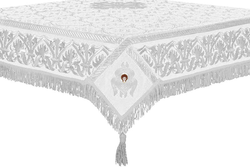 183 & Liturgical Holy table covers (white-silver) by Istok Church Supplies ...