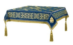Embroidered Holy table cover no.11 (blue-gold)