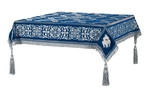 Embroidered Holy table cover no.11 (blue-silver)