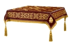 Embroidered Holy table cover no.11 (claret-gold)