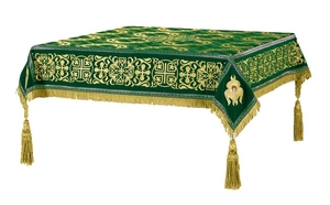 Embroidered Holy table cover no.11 (green-gold)