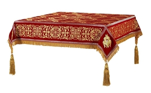 Embroidered Holy table cover no.11 (red-gold)