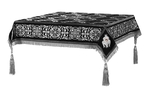 Embroidered Holy table cover no.11 (black-silver)