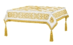 Embroidered Holy table cover no.11 (white-gold)