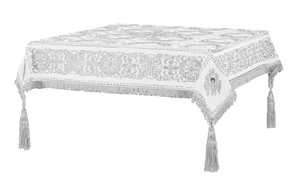 Embroidered Holy table cover no.11 (white-silver)