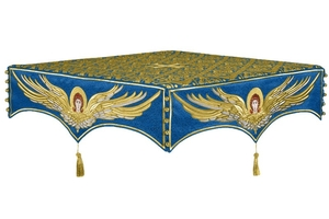 Embroidered Holy table cover no.13 (blue-gold)