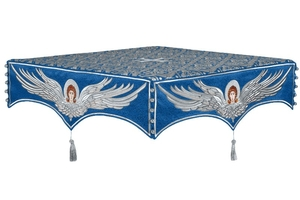 Embroidered Holy table cover no.13 (blue-silver)
