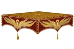 Embroidered Holy table cover no.13 (claret-gold)