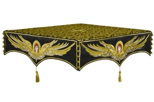 Embroidered Holy table cover no.13 (black-gold)