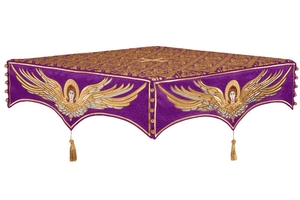 Embroidered Holy table cover no.13 (violet-gold)