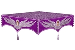 Embroidered Holy table cover no.13 (violet-silver)
