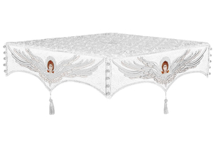 Embroidered Holy table cover no.13 (white-silver)