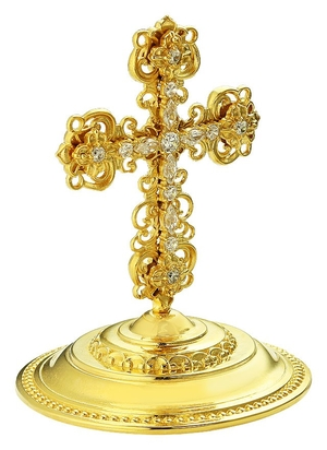 Jewelry mitre cross - A623 (gold-gilding)