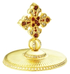 Jewelry mitre cross - A762 (gold-gilding)