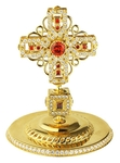 Jewelry mitre cross - A624 (gold-gilding)