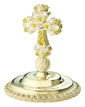 Jewelry mitre cross - A614 (silver-gilding)