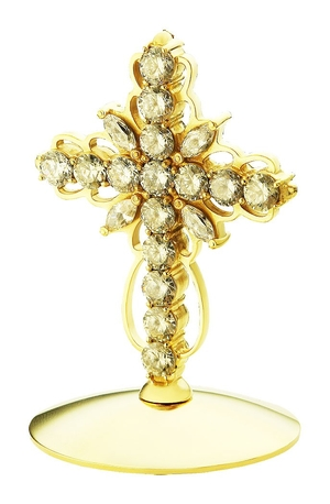 Jewelry mitre cross - A752 (gold-gilding)
