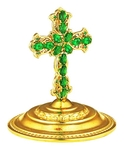 Jewelry mitre cross - A678 (gold-gilding)