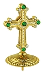 Jewelry mitre cross - A464 (gold-gilding)
