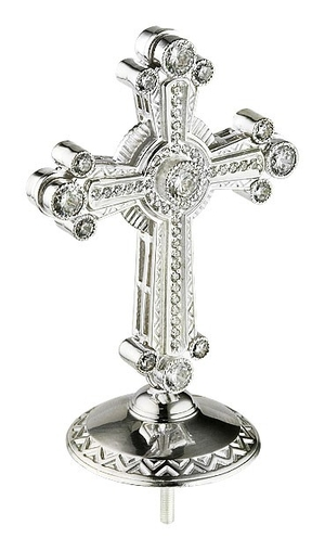 Jewelry mitre cross - A464 (silver-gilding)