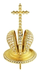 Jewelry mitre cross - A454 (gold-gilding)