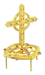 Jewelry mitre cross - A451 (gold-gilding)