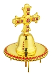 Jewelry mitre cross - A79 (gold-gilding)